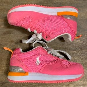 Toddler girls polo sneakers size 4